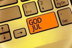 Бог июль текста сочинительства слова Концепция дела для с Рождеством Христовым людей приветствию для клавиатуры праздников Нового стоковое фото rf