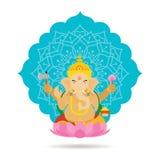 Бог или божество Ganesha индусские Стоковые Изображения