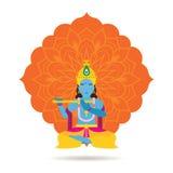 Бог или божество Krishna индусские Стоковые Изображения RF