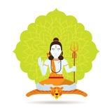 Бог или божество Shiva индусские Стоковое Изображение RF