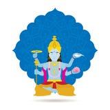Бог или божество Vishnu индусские Стоковая Фотография