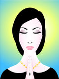 бог моля к женщине Стоковое фото RF