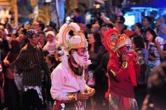 Бог обезьяны Hanuman индусский, фестиваль города Yogyakarta стоковые фотографии rf