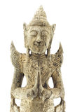 бог отливая тайскую древесину в форму Стоковое фото RF