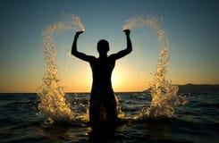 бог приводит нас в действие Стоковое Изображение RF
