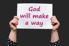 Бог сделает путь Стоковое фото RF
