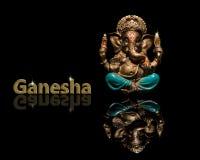 Бог Ganesha на черной предпосылке стоковая фотография