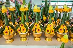Бог Ganesha предложений цветка плоти индусский Стоковая Фотография RF