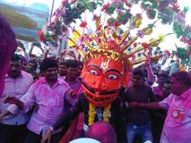 Бог Nrushinha стоковые изображения rf