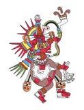 Бог Quetzalcoatl, оперенный змей Стоковое Фото