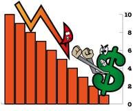 бодрствование доллара поднимающее вверх Стоковые Изображения RF