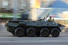 Боевая машина пехоты во время парада войны Стоковое Изображение RF