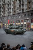 Боевой танк Armata T-14 главный русский Стоковые Фотографии RF