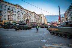 Боевой танк Armata T-14 главный русский Стоковое Фото