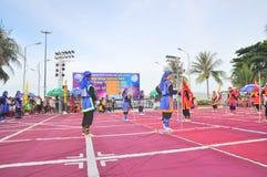 Боевые искусства человеческого шахмат в фестивале на пляже города Nha Trang Стоковые Фото