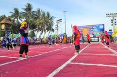 Боевые искусства человеческого шахмат в фестивале на пляже города Nha Trang Стоковое Изображение