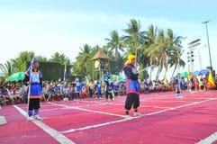 Боевые искусства человеческого шахмат в фестивале на пляже города Nha Trang Стоковые Изображения RF
