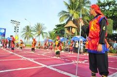 Боевые искусства человеческого шахмат в фестивале на пляже города Nha Trang Стоковые Изображения