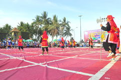 Боевые искусства человеческого шахмат в фестивале на пляже города Nha Trang Стоковые Фотографии RF