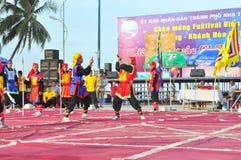 Боевые искусства человеческого шахмат в фестивале на пляже города Nha Trang Стоковая Фотография RF