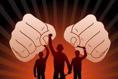 Боевые протестующие Стоковое Изображение