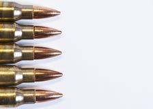 Боеприпасы винтовки стоковые изображения