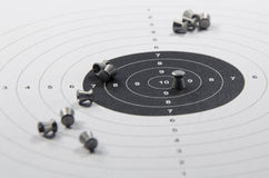 боеприпасы и цель для пневматического оружия Стоковые Изображения RF