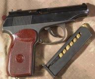 Боеприпасы пистолета Makarov Стоковая Фотография RF