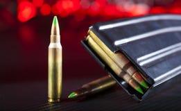 Боеприпасы AR-15 и кассета Стоковые Фото