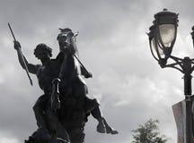 Боец в остром сбросе, музей изобразительных искусств льва Филадельфии Стоковое Фото