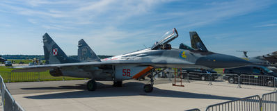Боец превосходства в воздухе, multirole боец Mikoyan MiG-29 Стоковые Фотографии RF