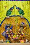Божества Sri Sri Nitay-Gauracandra стоковое изображение rf