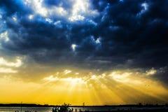 Божественный заход солнца Стоковые Фотографии RF