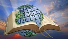 Божественный свет духовности библии Стоковые Изображения