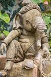 Божество Ganesh в relaxed представлении Стоковые Изображения