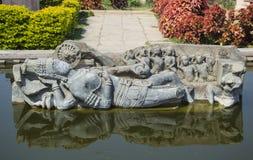 Божество Vishnu индусское Стоковая Фотография