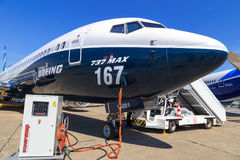 Боинг 737-9 Макс стоковые фото