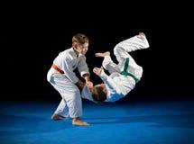 2 бойца боевых искусств мальчиков Стоковые Изображения RF