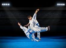 2 бойца боевых искусств мальчиков Стоковая Фотография