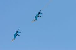 2 бойца летают друг к другу Стоковое Изображение