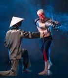 2 бойца средних возрастов Стоковая Фотография RF