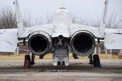 Бойцы военного самолета на авиапорте Старые decommissioned воздушные судн Авиаполе Краснодара Стоковое Фото
