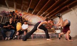 Бойцы и музыканты Capoeira Стоковое фото RF