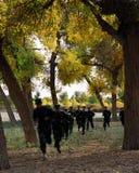 Бойцы камуфлирования в учебном лагере пре-сезона Стоковые Изображения RF