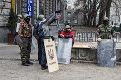 Бойцы самозащиты обсуждают что-то Стоковое Фото