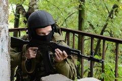 Бойцы тренировки в Москве. Стоковые Изображения RF