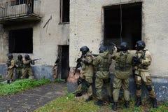 Бойцы тренировки в Москве Стоковое Фото
