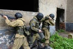 Бойцы тренировки в Москве Стоковые Изображения