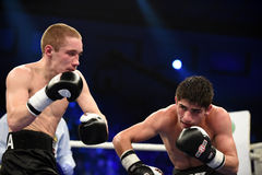 Бой бокса ранжировки в дворце спорта Стоковое Фото