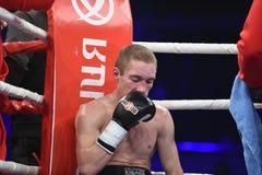 Бой бокса ранжировки в дворце спорта Стоковое Изображение